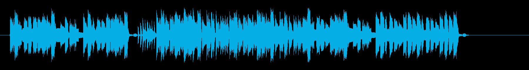 シンセのリズムが現代的なポップスの再生済みの波形