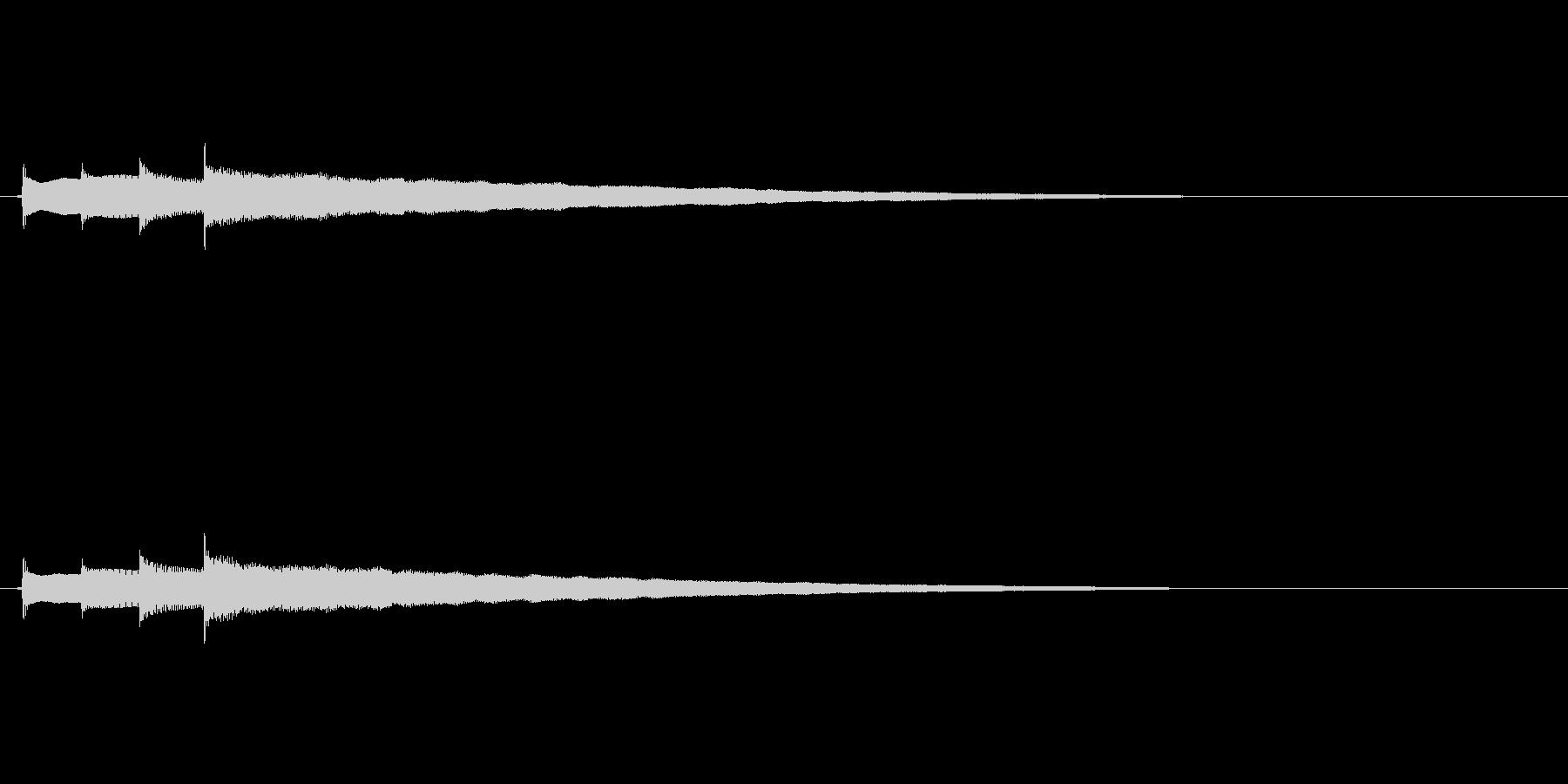 クリーントーンのエレキギターの未再生の波形