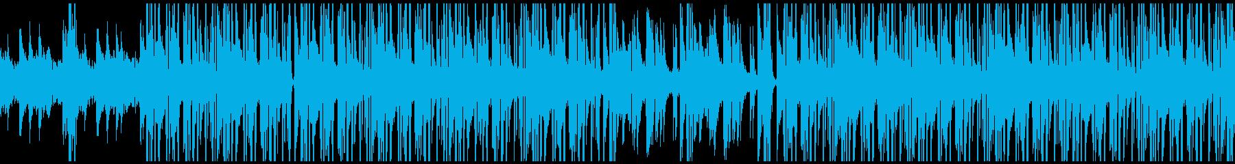 サックスとピアノのクールなヒップホップの再生済みの波形