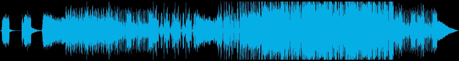 SCIFIテイストな、近未来感漂う音の再生済みの波形