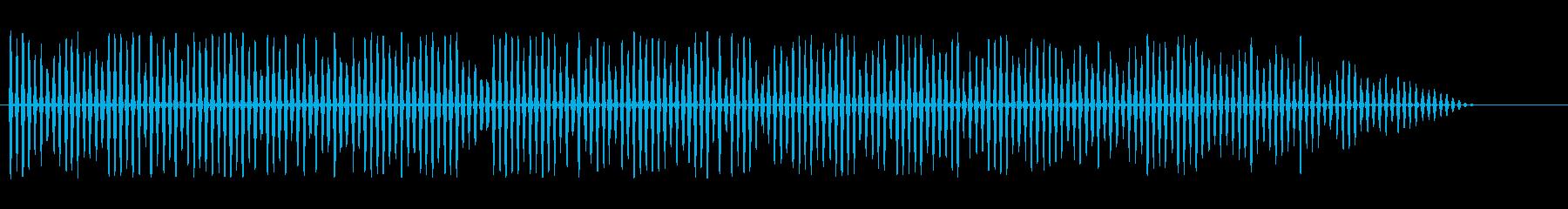 LFEによるベッドヘリコプターのばたつきの再生済みの波形