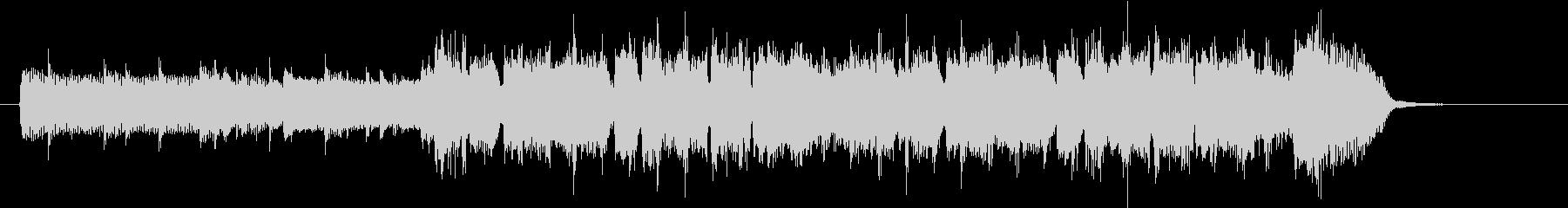 クールなバンド風のEDMのジングルの未再生の波形