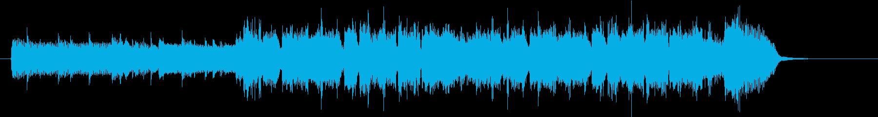 クールなバンド風のEDMのジングルの再生済みの波形