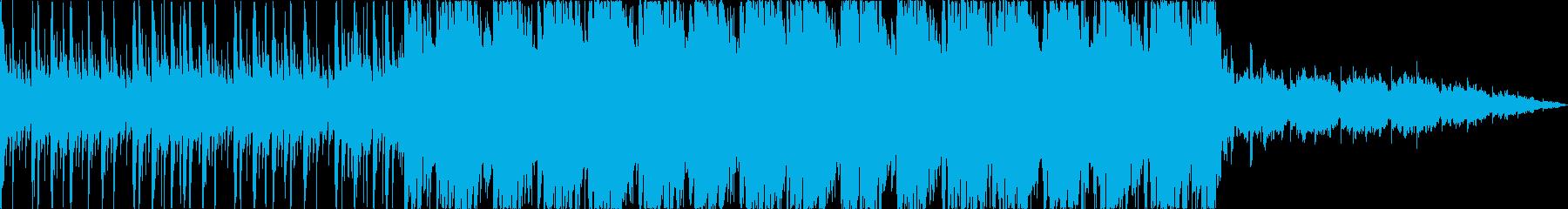 激しいデジタルロックの再生済みの波形