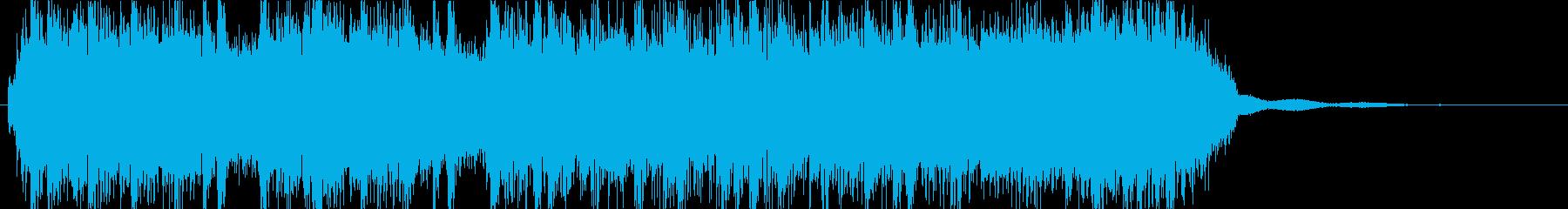 ヘヴィメタルなアイキャッチの再生済みの波形