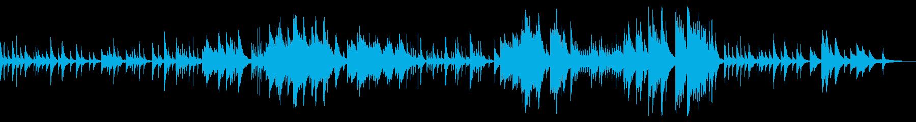 しっとりとしたピアノソロ曲の再生済みの波形