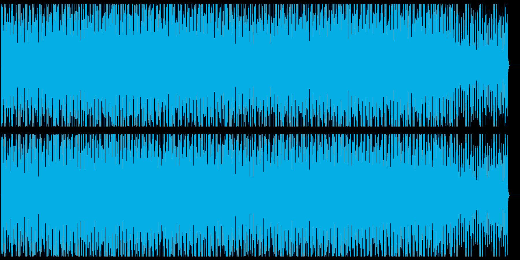 デジタルロック系テクノサウンドの再生済みの波形
