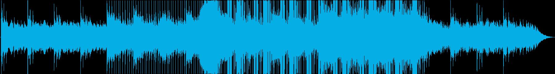 ミステリアスなBGMの再生済みの波形