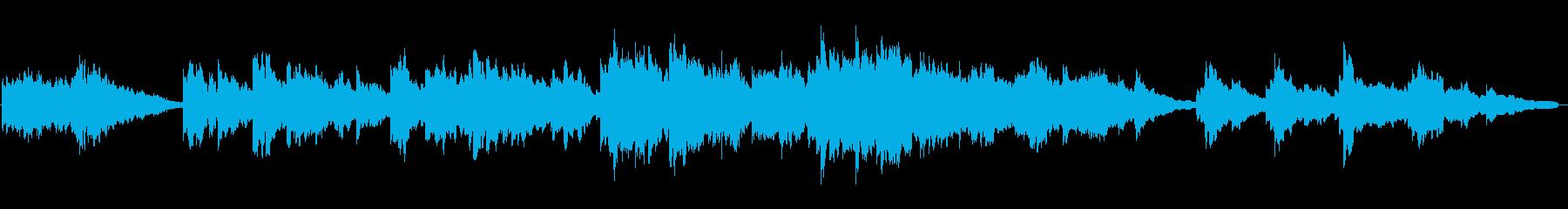 感動、切ないシーンなどバラード調BGMの再生済みの波形