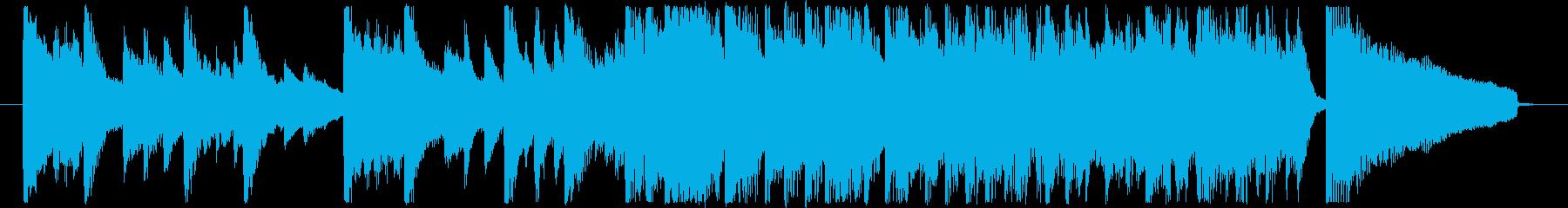 キラキラしたピアノバンド・ジングルの再生済みの波形