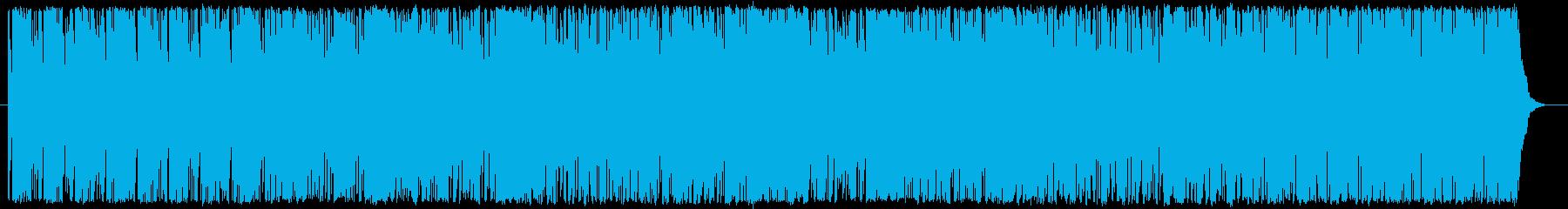 アナログシンセサイザーのテクノの再生済みの波形