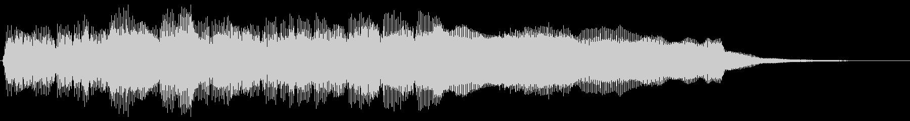 幻想的で勇壮なファンファーレ クリアの未再生の波形