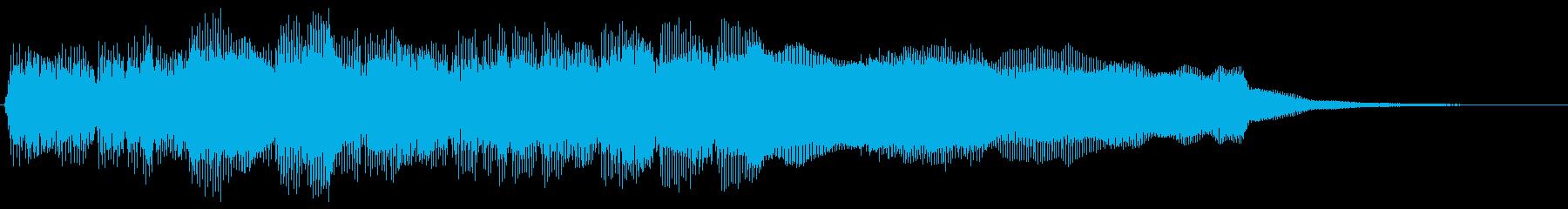 幻想的で勇壮なファンファーレ クリアの再生済みの波形