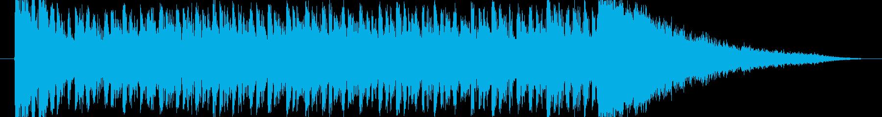 【ドラムロール】期待感の演出などに最適!の再生済みの波形