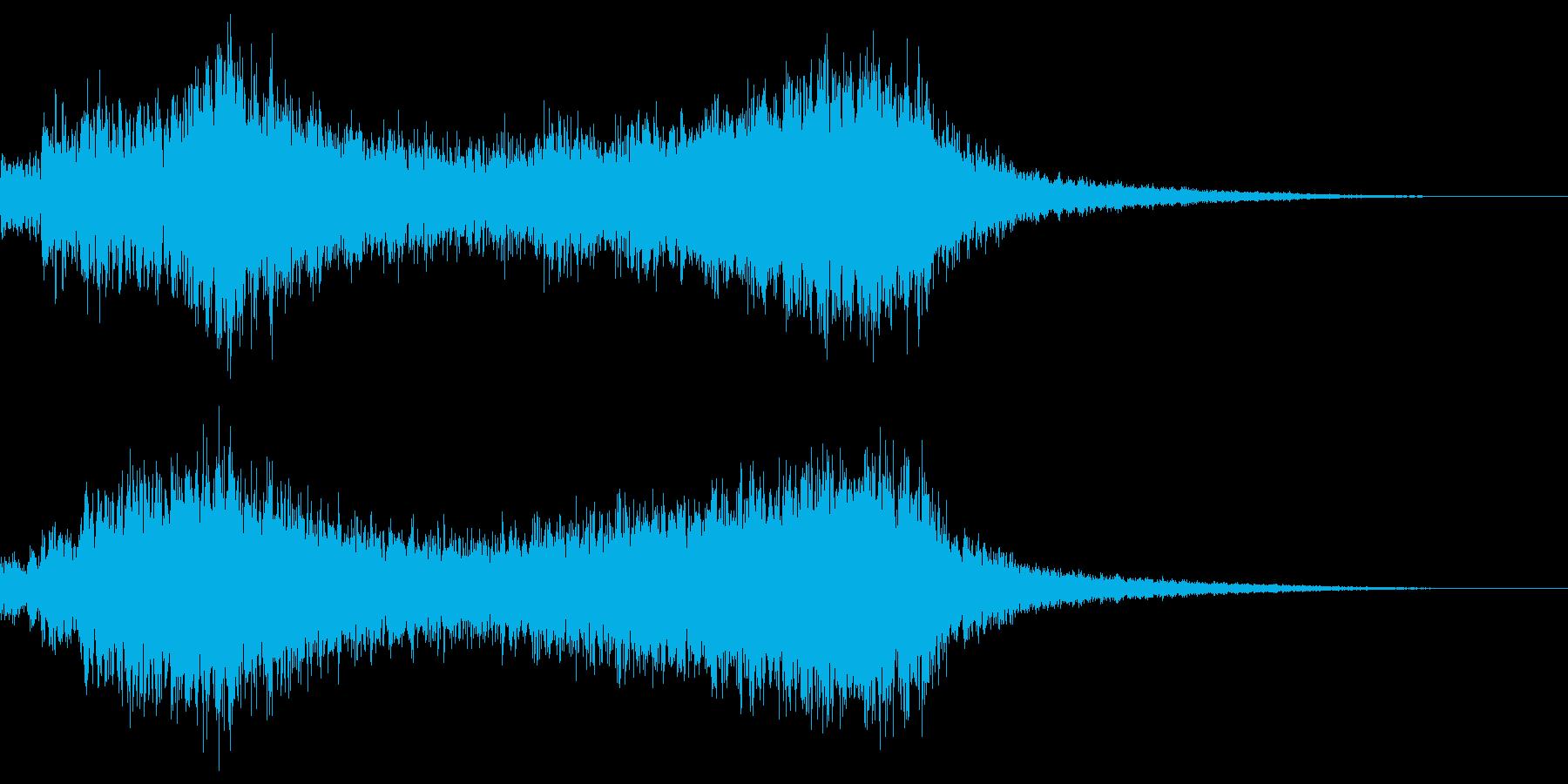 財宝や貴重なものを発見したときの音の再生済みの波形