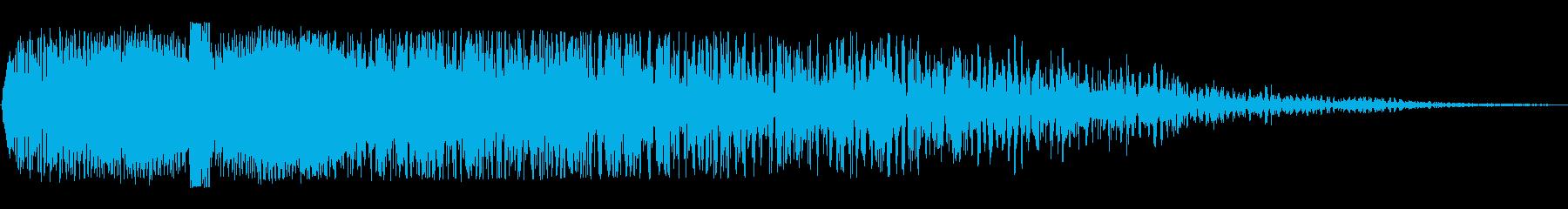 ワープ突入後に余韻がある効果音の再生済みの波形