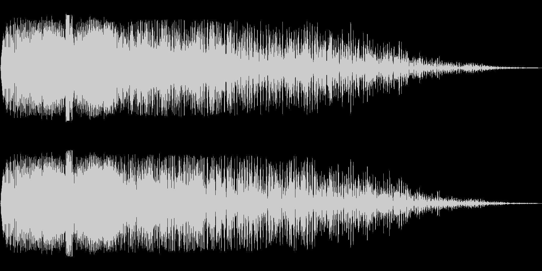 ワープ突入後に余韻がある効果音の未再生の波形