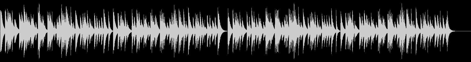 お正月 カード式オルゴールの未再生の波形