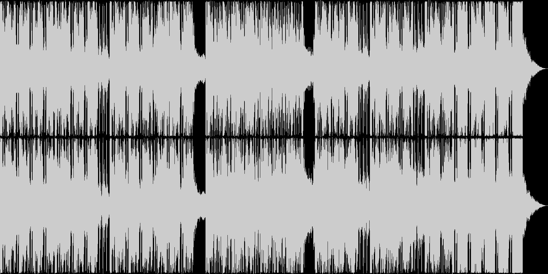 爽快なドラムのリズムが奏でる音楽の未再生の波形