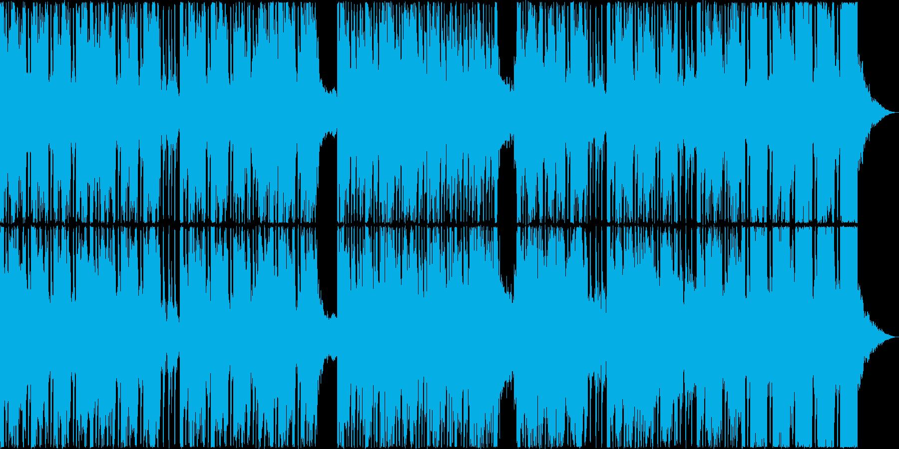 爽快なドラムのリズムが奏でる音楽の再生済みの波形