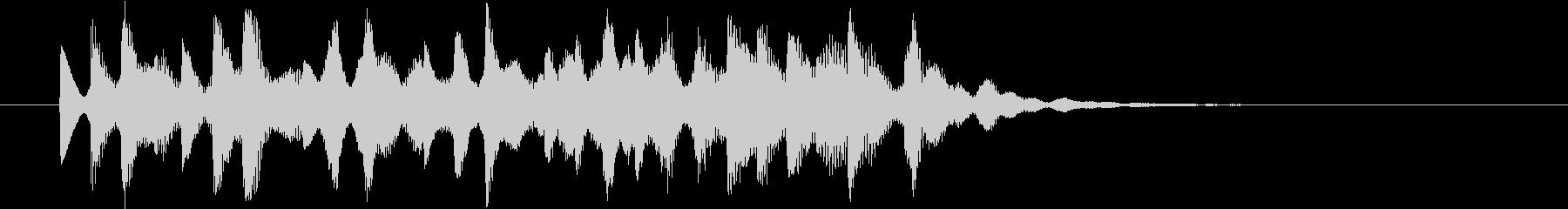 FMシンセの発車メロディ風の短いフレーズの未再生の波形