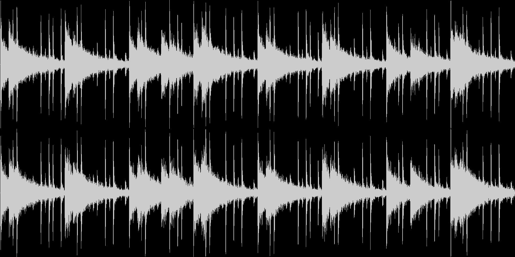 リズムを強調した楽曲です。淡々と伸びや…の未再生の波形
