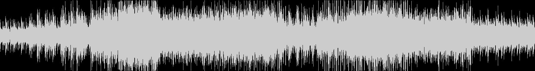 アップテンポのピアノジャズの未再生の波形