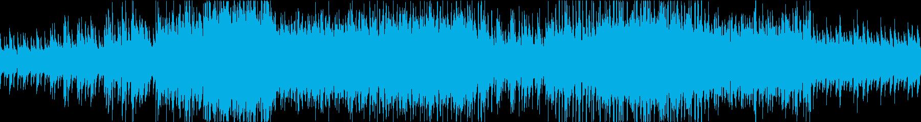 アップテンポのピアノジャズの再生済みの波形