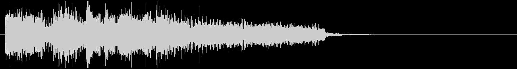 結果発表系のハードバップジャズジングルの未再生の波形