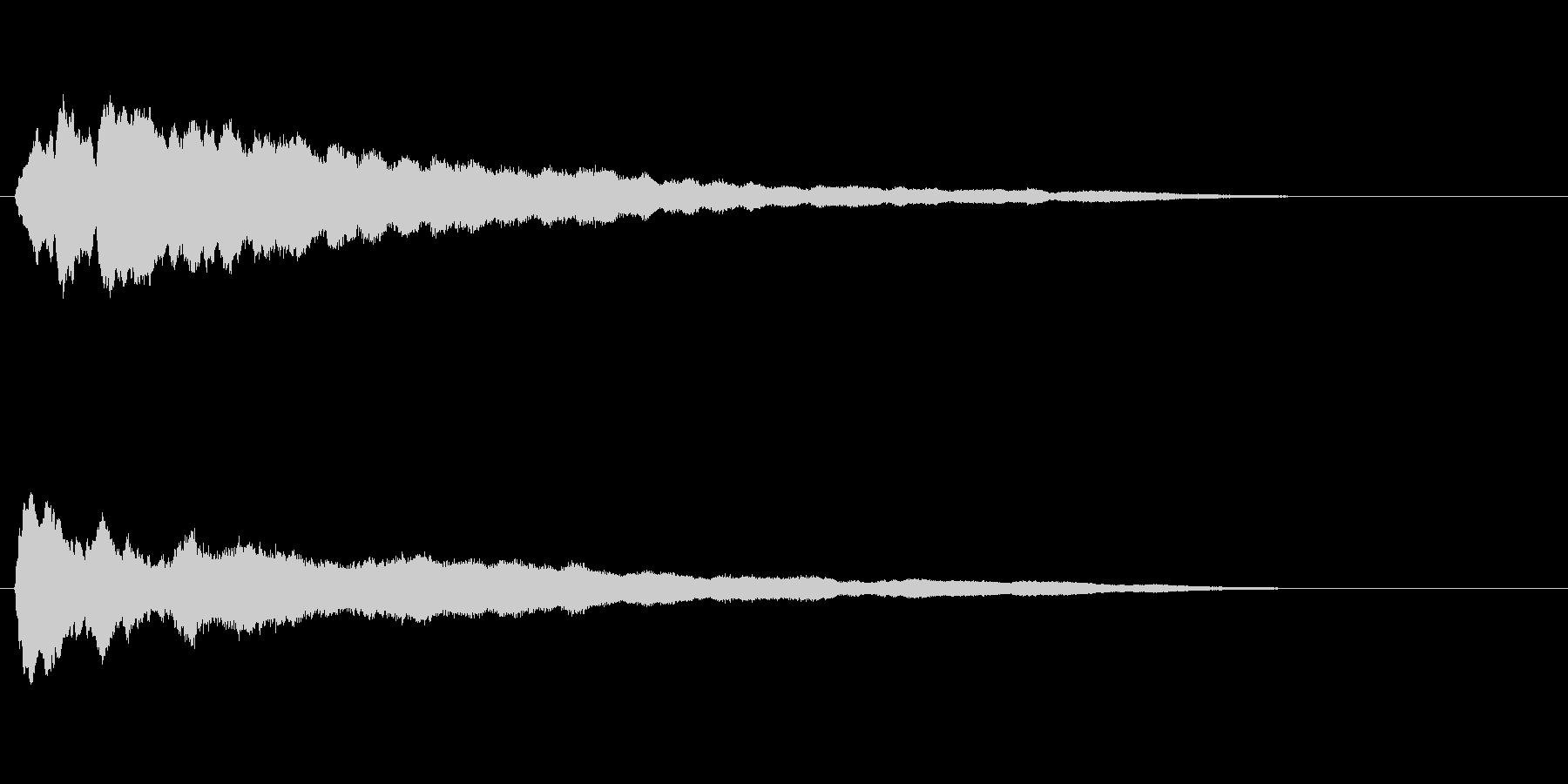 ロングテールの薄いメロディーベルロ...の未再生の波形