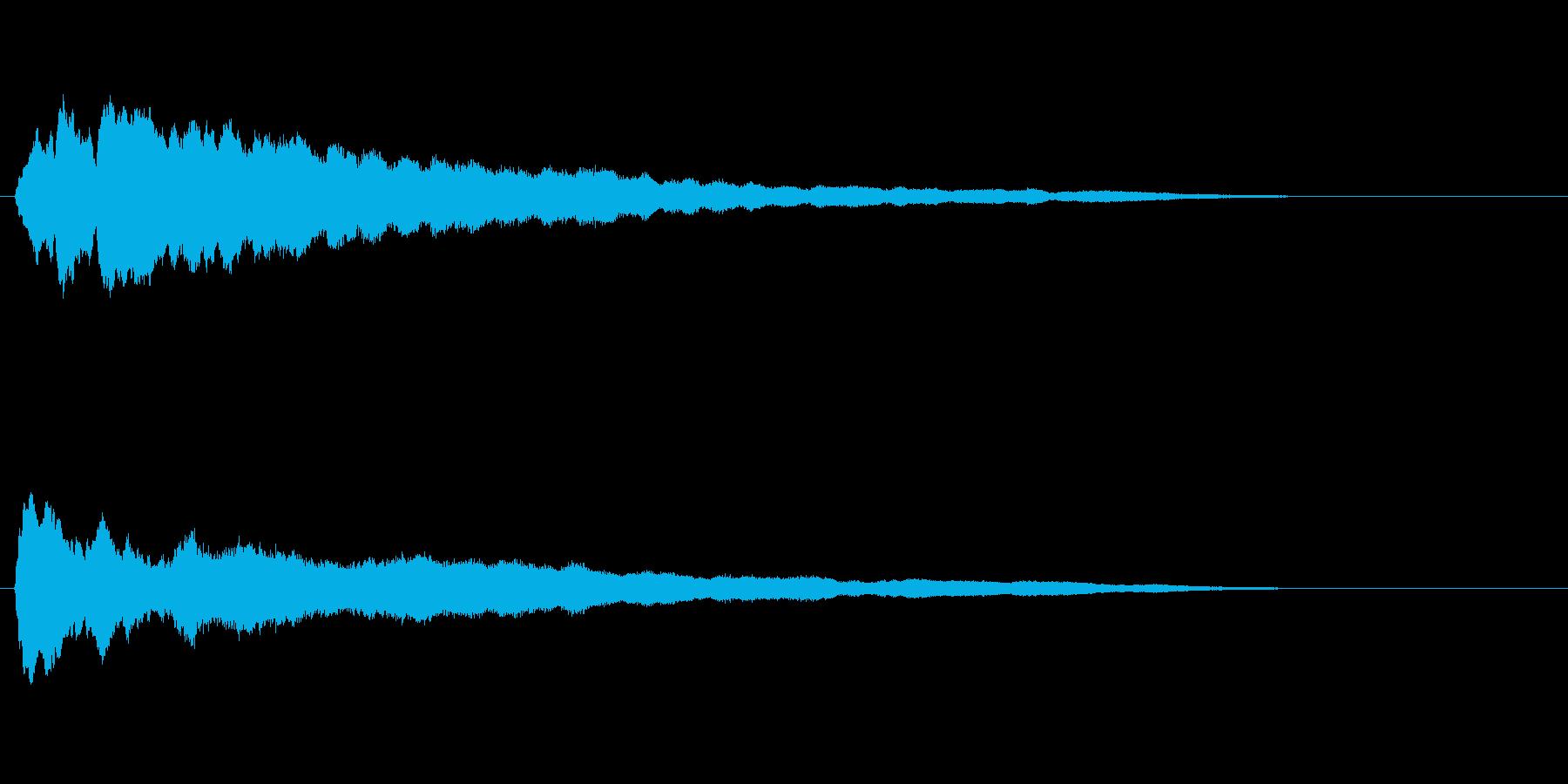 ロングテールの薄いメロディーベルロ...の再生済みの波形