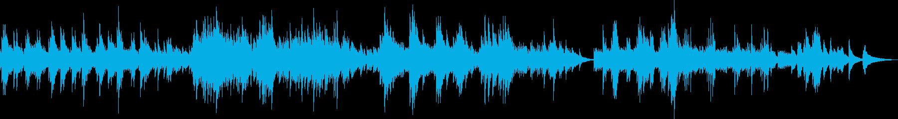 大人の哀愁漂う悲しいピアノ曲の再生済みの波形