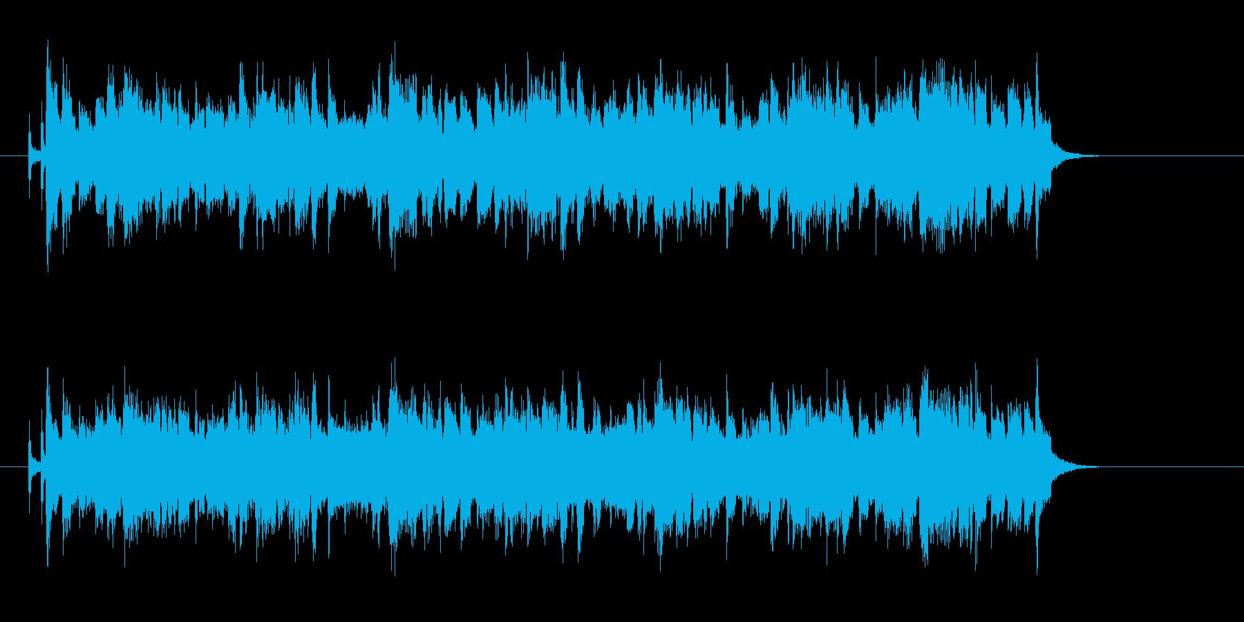 爽かなポップスのジングル曲、サウンドロゴの再生済みの波形