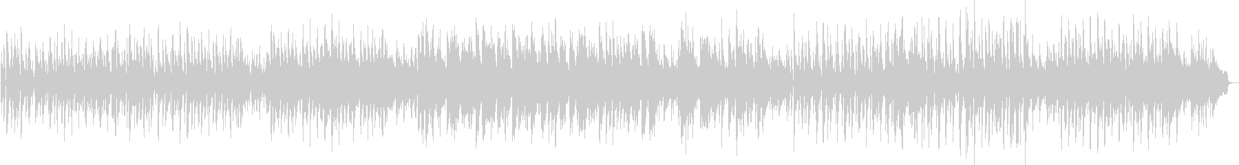 3/4拍子のポップスの未再生の波形