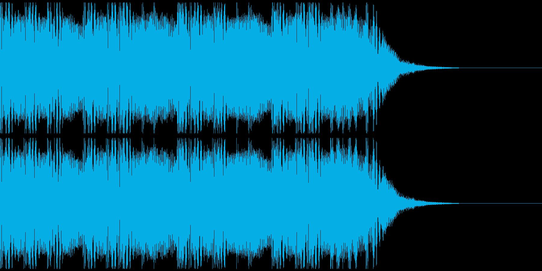 ムーディギターなおしゃれジングルの再生済みの波形