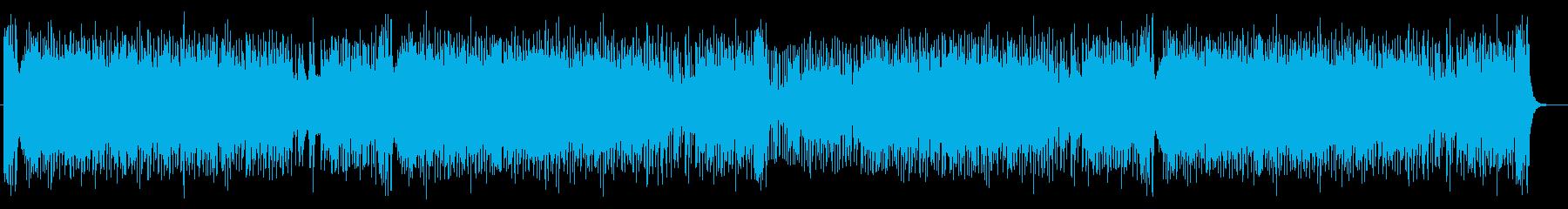 宇宙感のあるドラムシンセサイザーサウンドの再生済みの波形