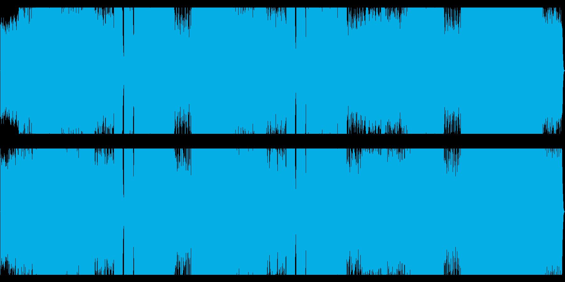 フルオーケストラの元気のよい曲の再生済みの波形
