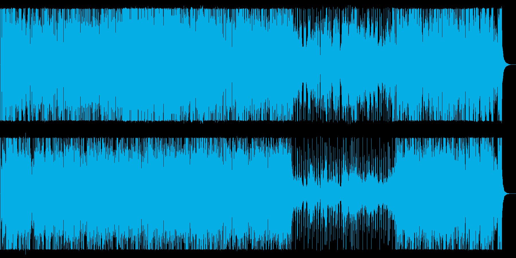 柔らかく弾むイージーリスニングの再生済みの波形