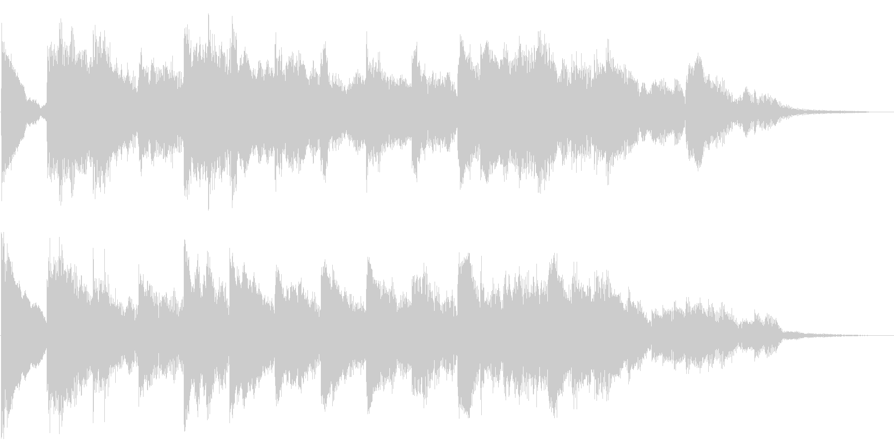 伸びやかで牧歌的なピアノジングルの未再生の波形