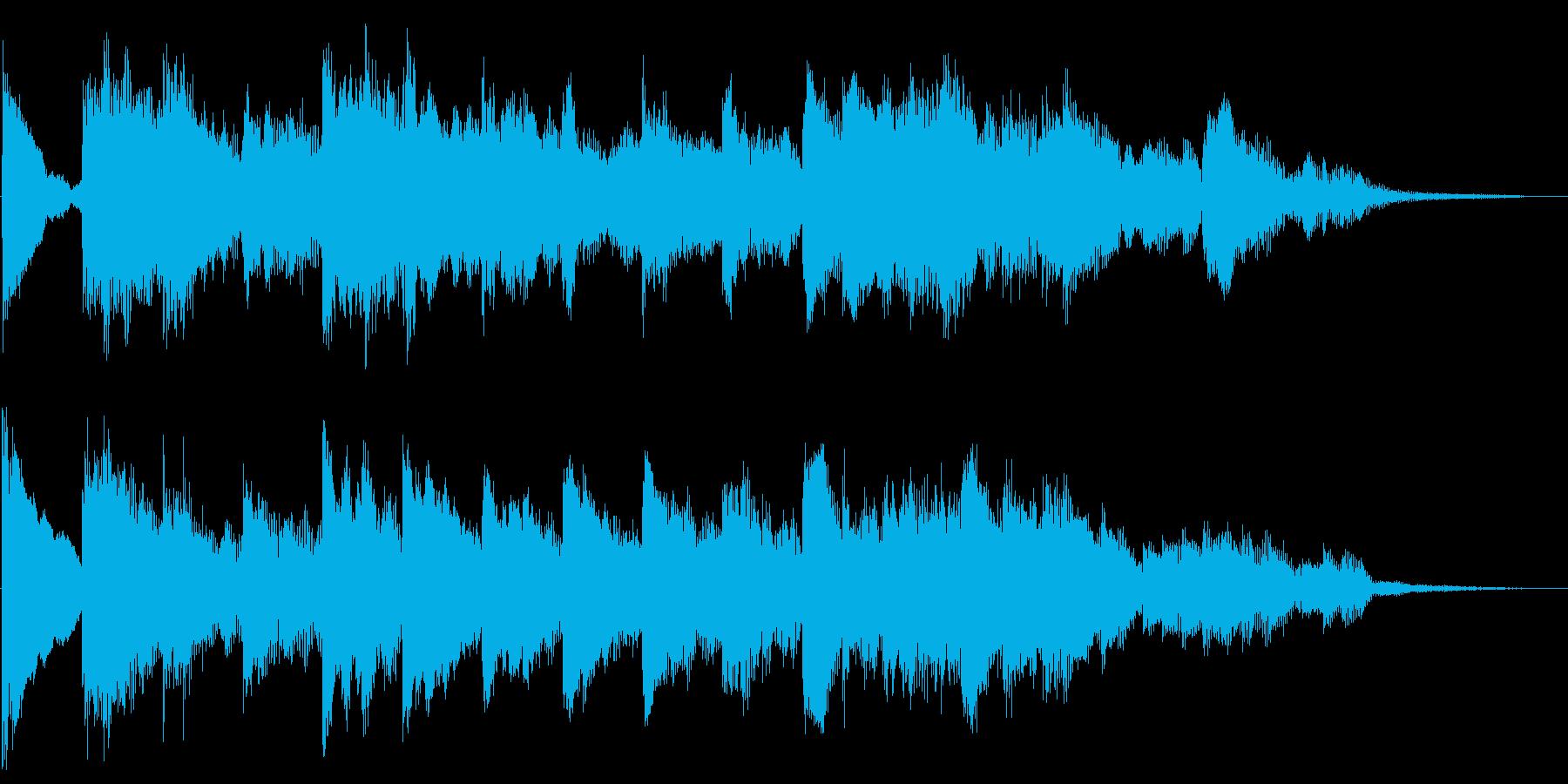 伸びやかで牧歌的なピアノジングルの再生済みの波形
