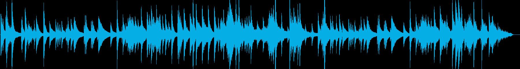 妖艶な響きのスロージャズピアノ楽曲の再生済みの波形