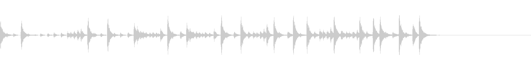 生ドラム_4小節マーチングの未再生の波形