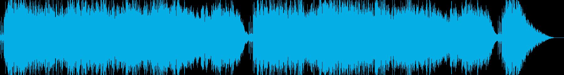 ゆったり癒し系・浮遊感・アンビエント楽曲の再生済みの波形
