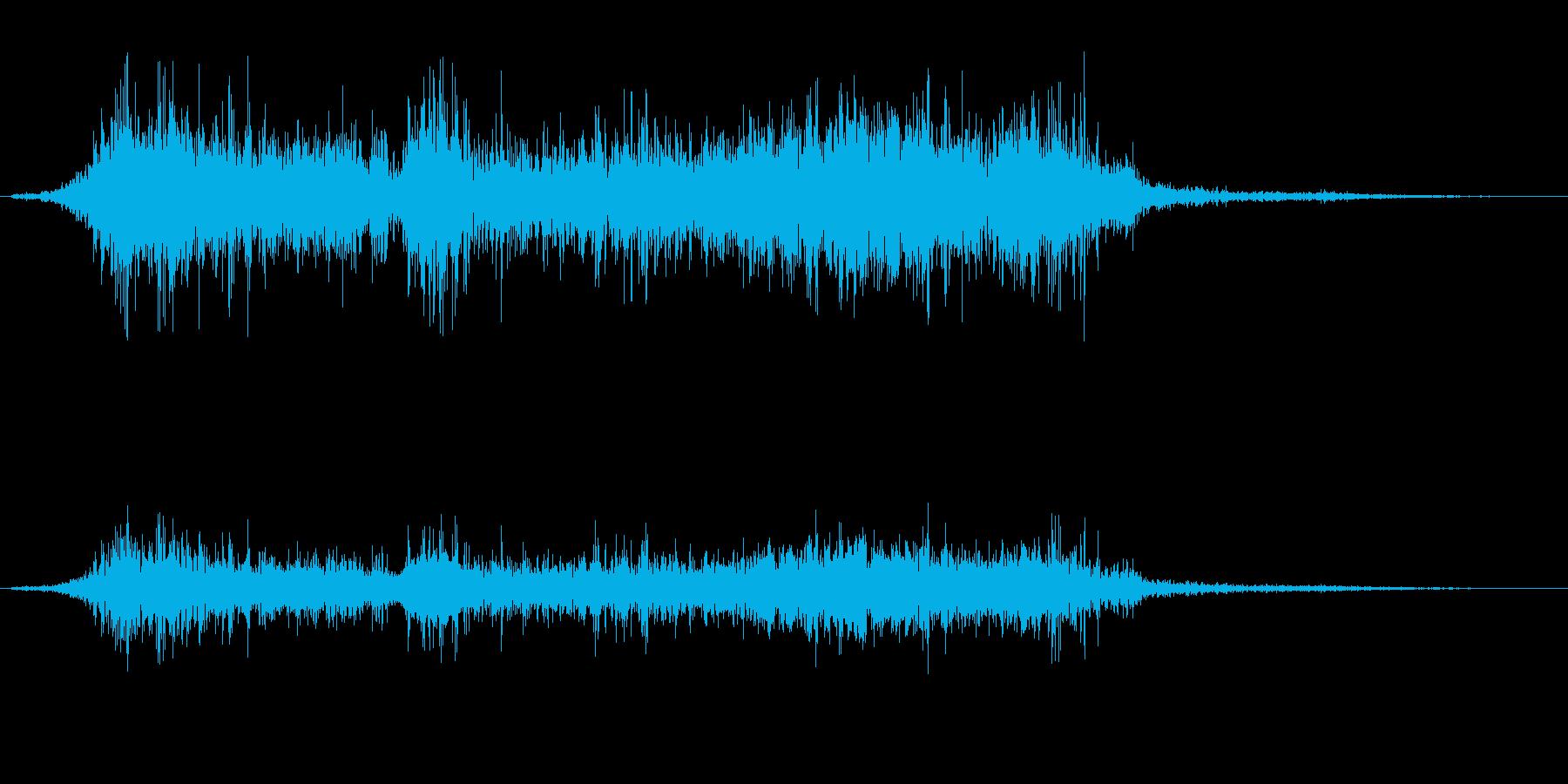 鼻をかんだときに出る音の再生済みの波形
