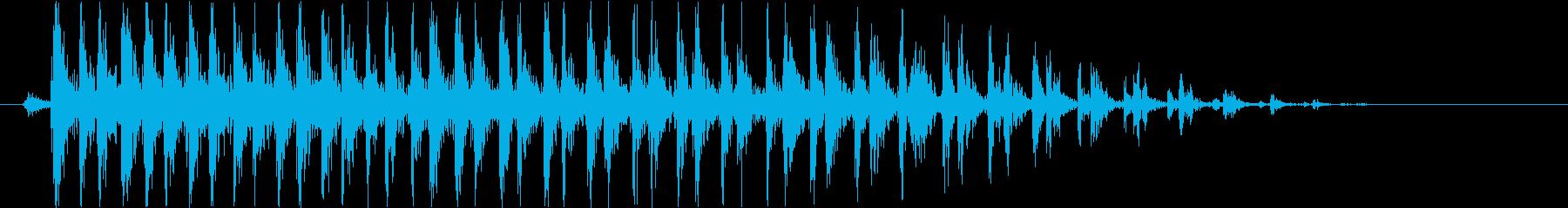 ビブラスラップ(軽め)の再生済みの波形