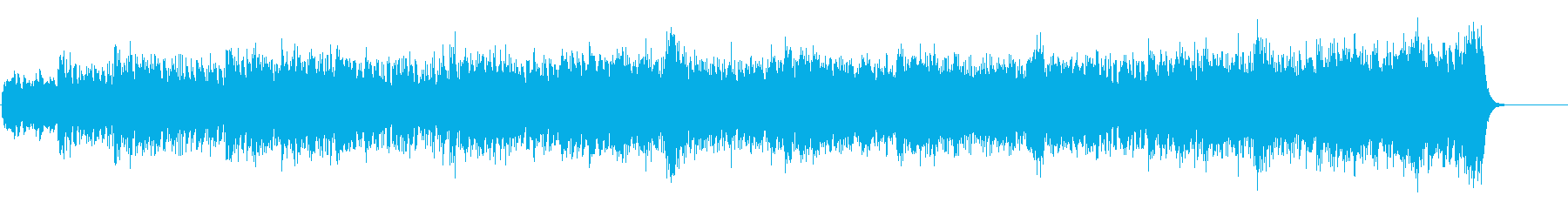 アンビエントなドキュメント向けサウンドの再生済みの波形