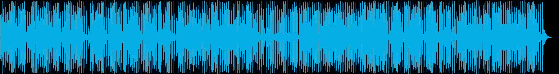 愉快な和風ポップソングの再生済みの波形