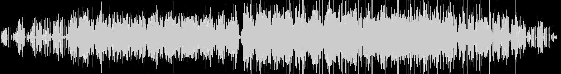 ホラー系ミステリアス、エンディング曲の未再生の波形