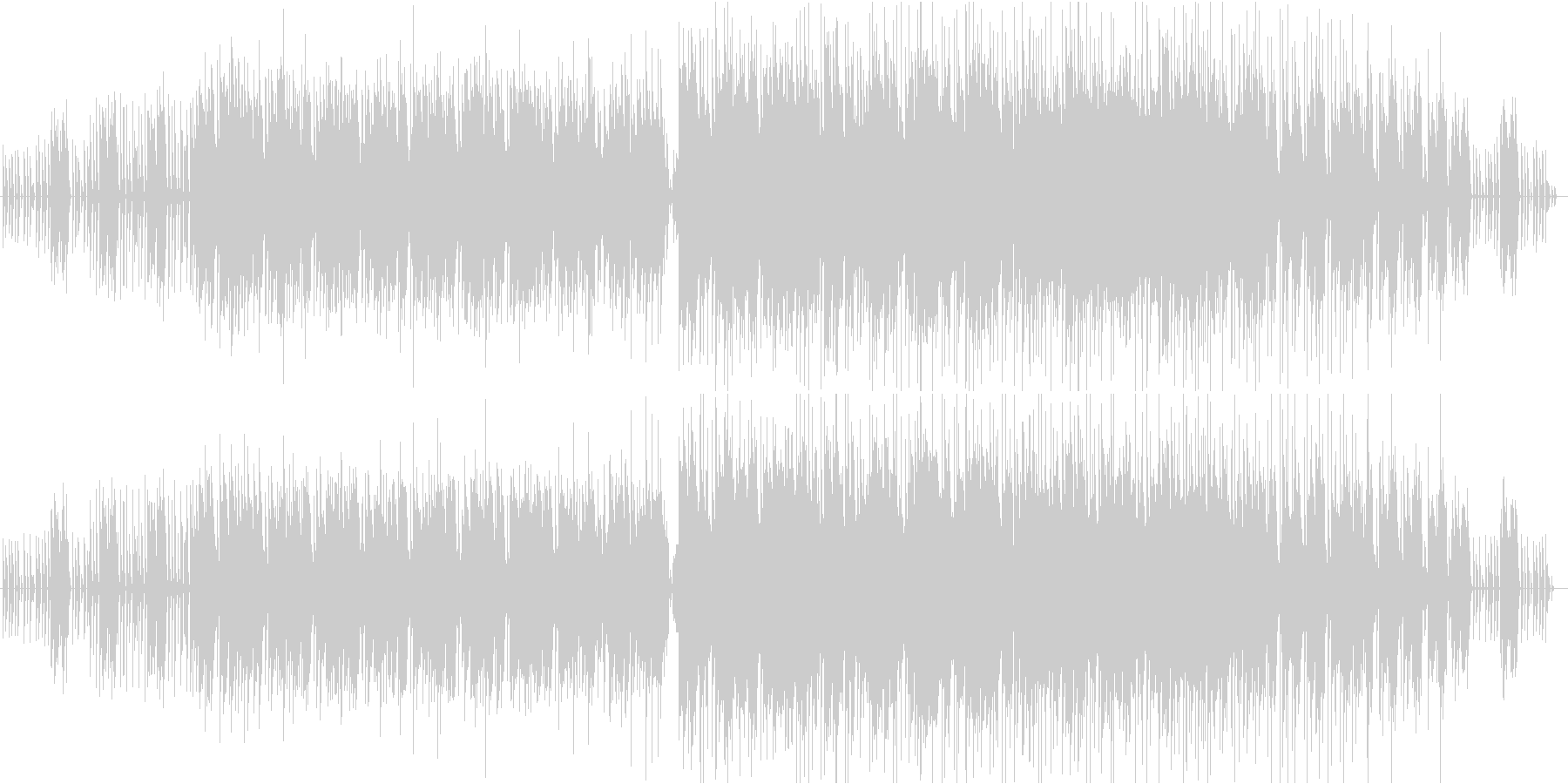 ホラーBGM メロディありのエンディングの未再生の波形
