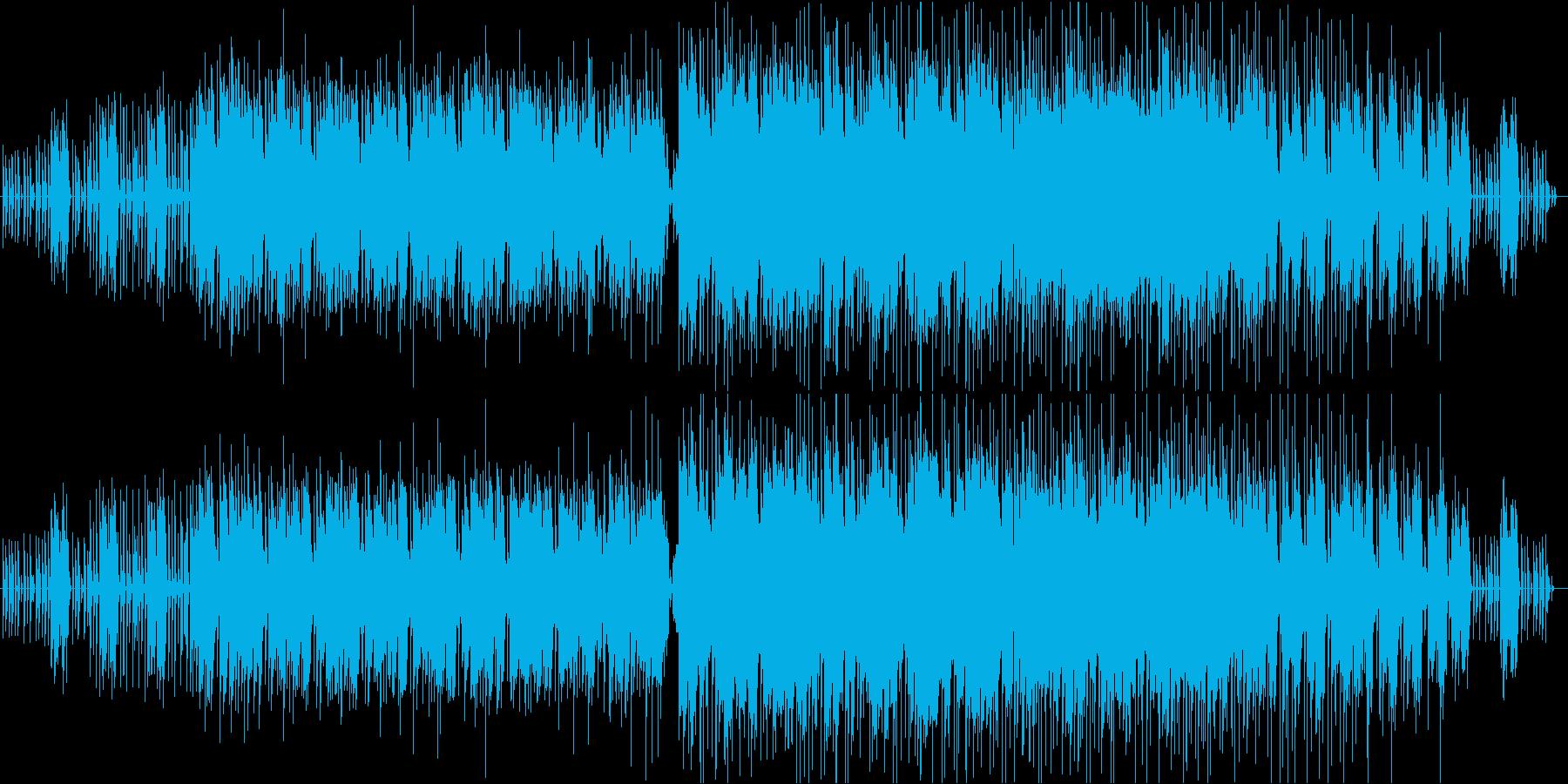 ホラーBGM メロディありのエンディングの再生済みの波形